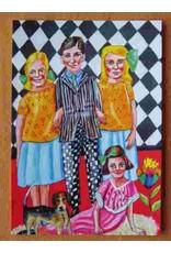 Kunst kaart - Broer en zussen