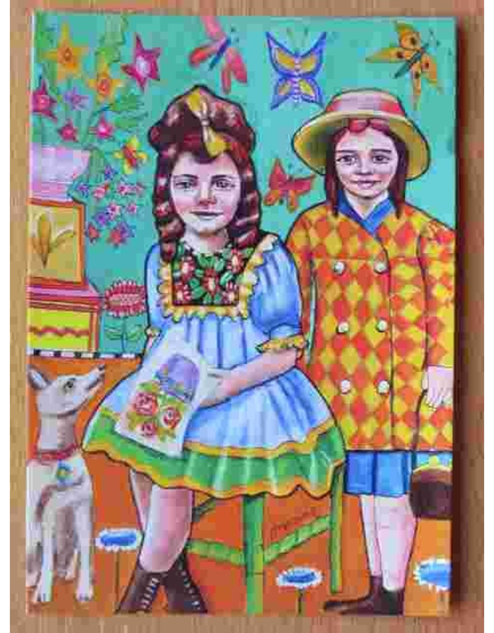 Art card - Girls with dog