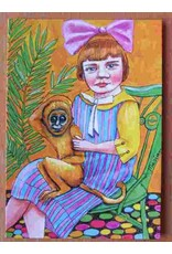 Art card - Girl with monkey