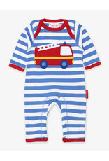 Toby Tiger Baby jumpsuit - firetruck