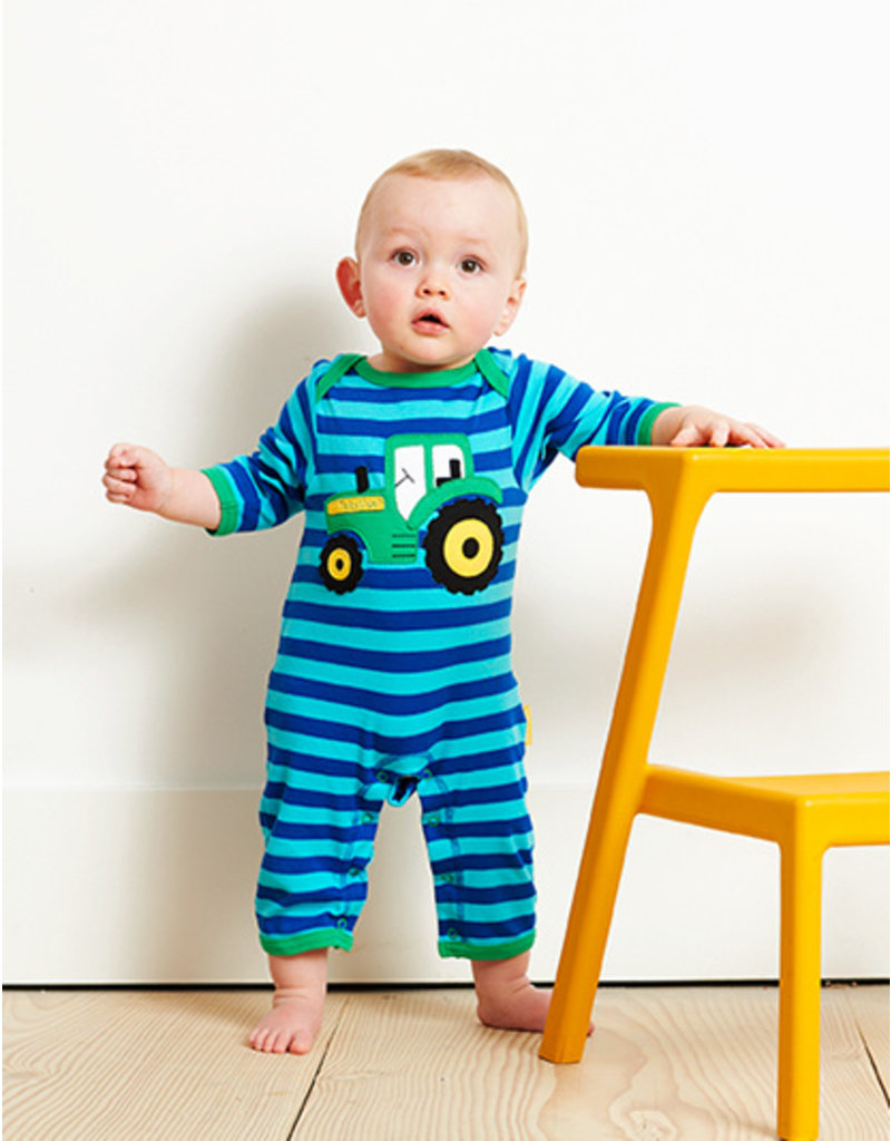 Toby Tiger Baby jumpsuit - tractor