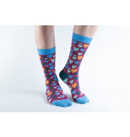 Doris & Dude Socks - hearts (36-40)