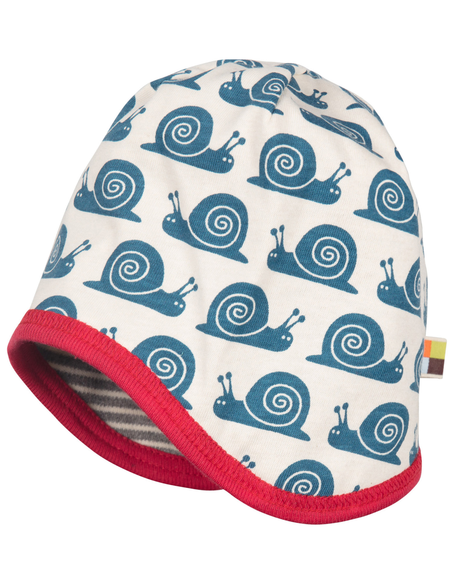 loud+proud Children's hat - grey with snails