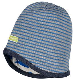 loud+proud Children's hat - grey blue with seals