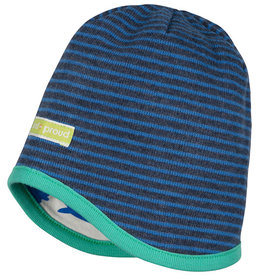 loud+proud Children's hat - dark blue with seals