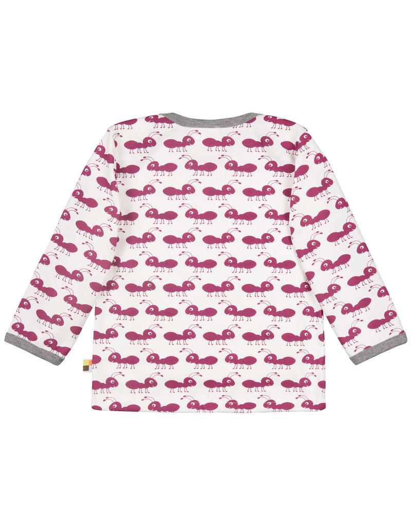 loud+proud Kinder shirt - fuchsia mieren