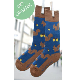 Fräulein Prusselise Children's terry socks - squirrel