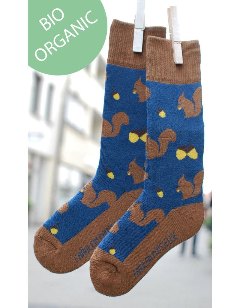Fräulein Prusselise Children's terry socks - squirrel