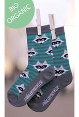 Fräulein Prusselise Children's socks - raccoon