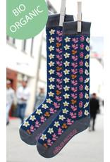 Fräulein Prusselise Children's knee socks - retro flowers