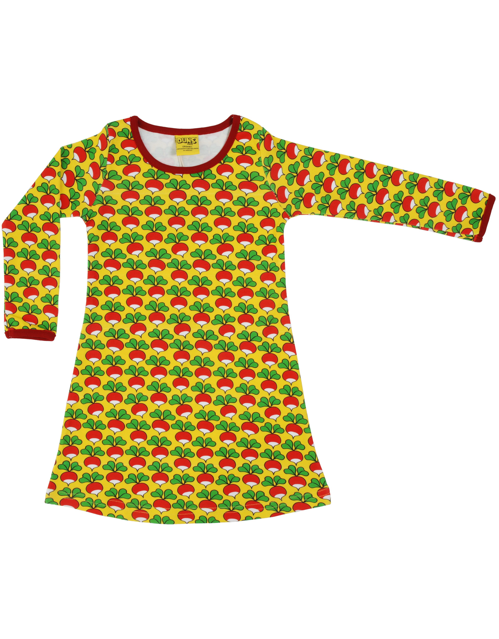 Duns Children's dress - yellow radishes