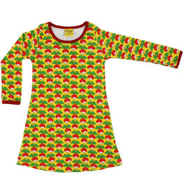 Duns Children's dress - yellow radishes