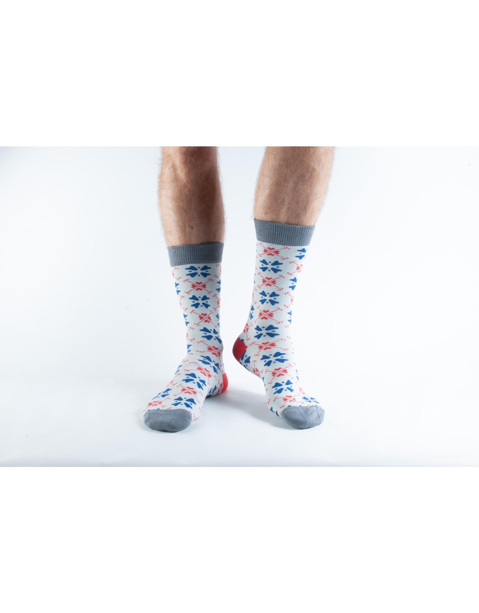 Doris & Dude Christmas socks - snowflake (36-40)
