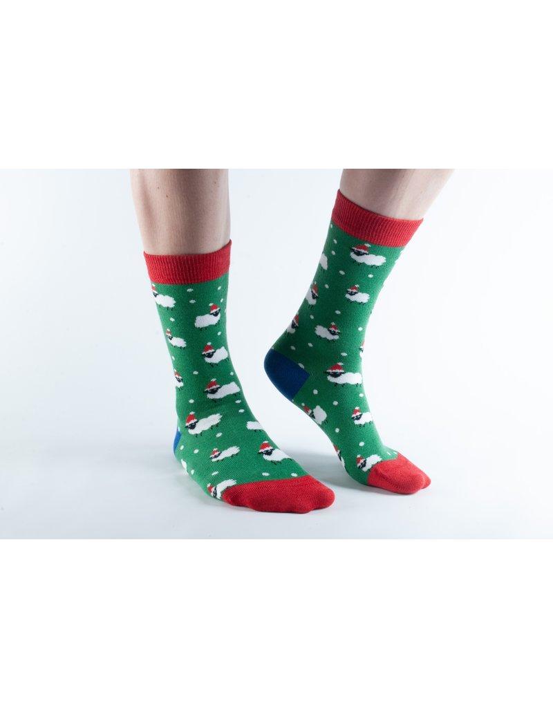 Doris & Dude Kerst sokken - schaapjes (41-45)