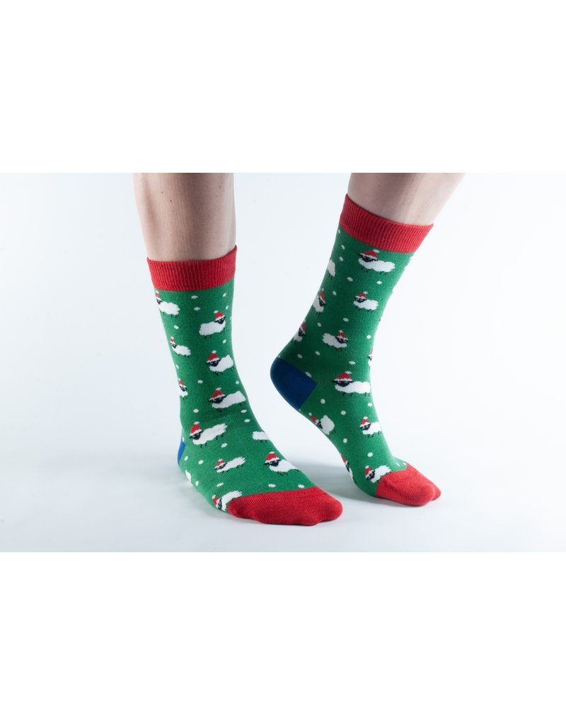 Doris & Dude Kerst sokken -schaapjes (36-40)