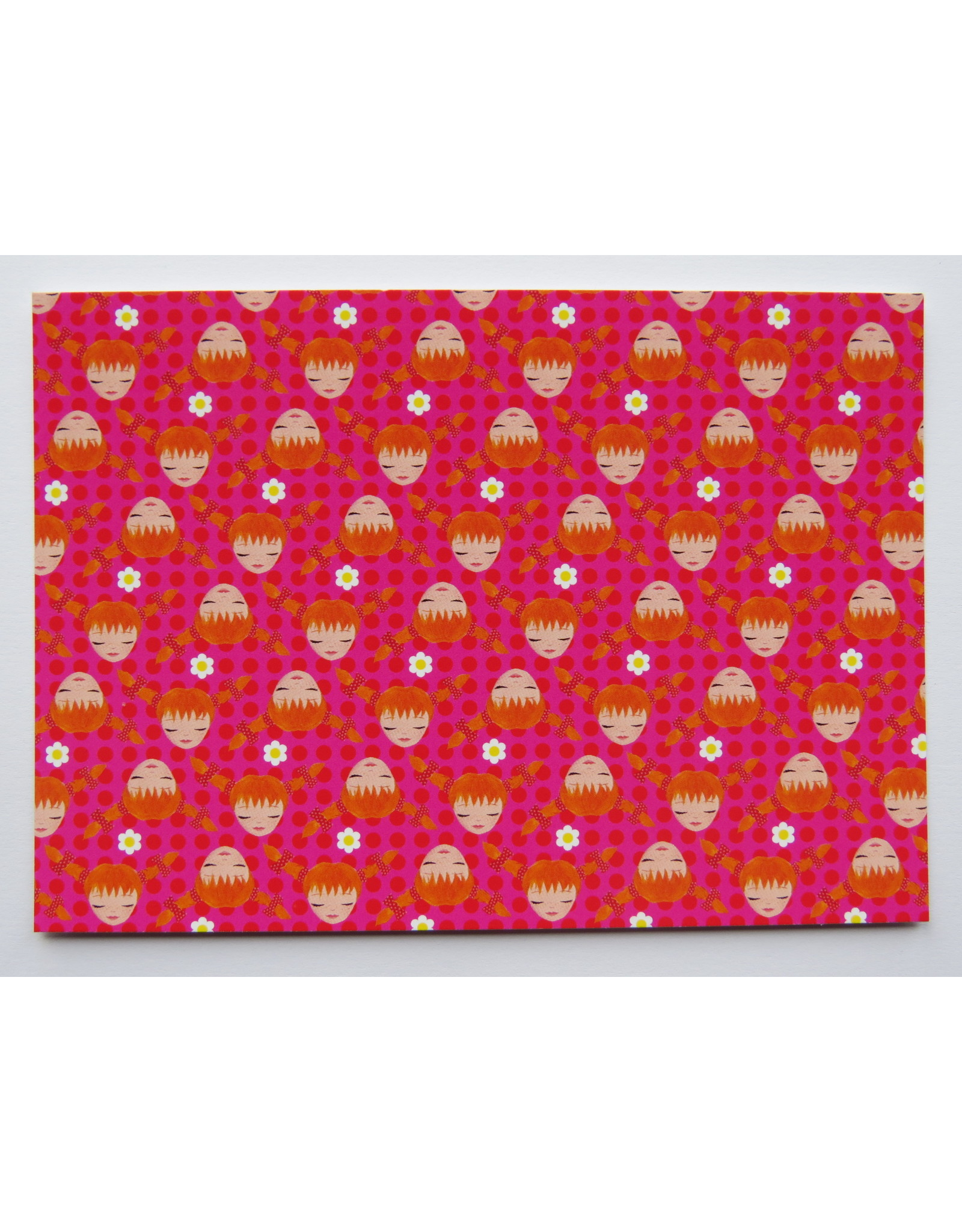 Pippi Langkous Pippi Longstocking card - pink!