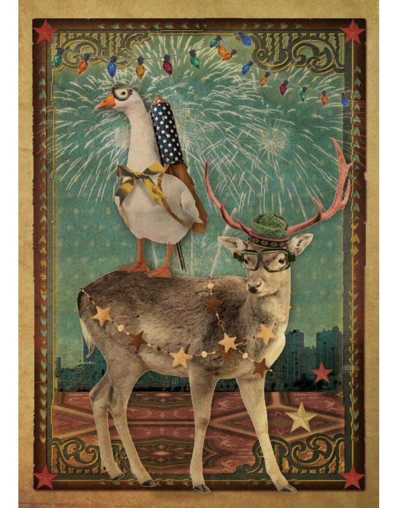 Christmas card - fireworks