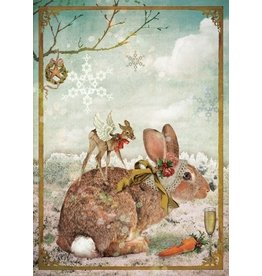 Kerstkaart - konijn