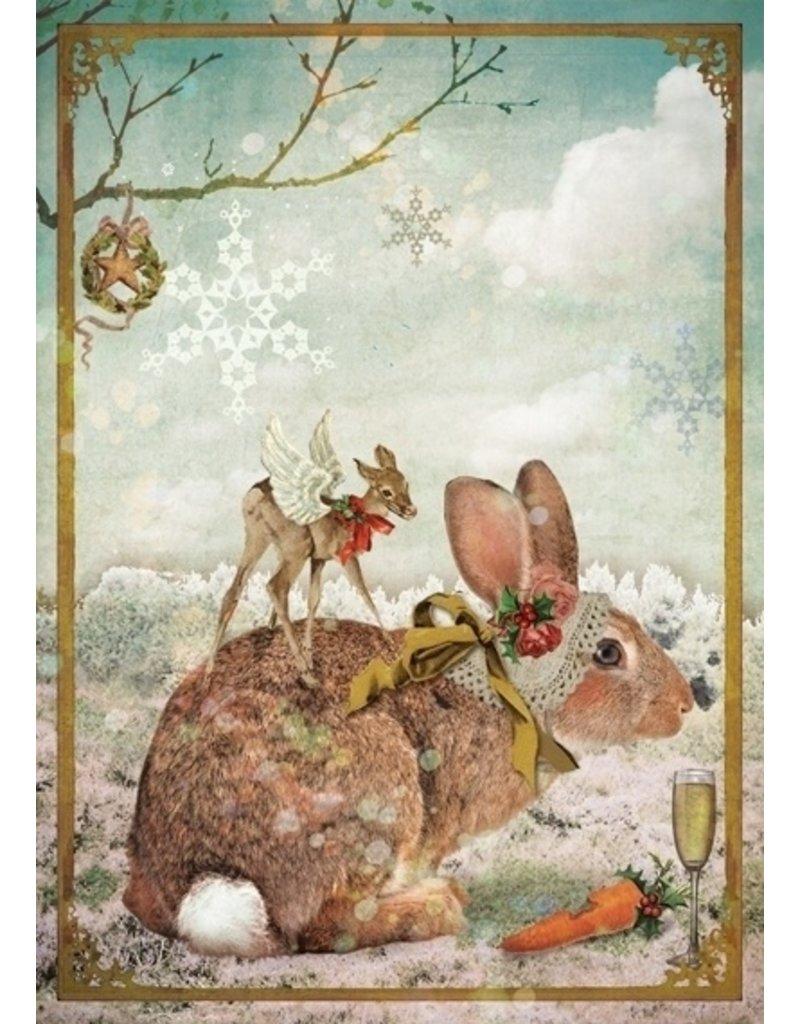 Christmas card - rabbit