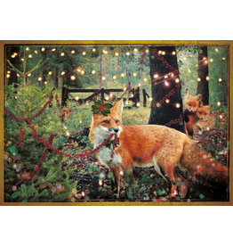 Christmas card - christmas fox