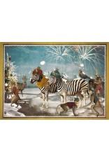 Christmas card - zebra party