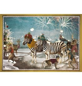 Christmas card - zebra party