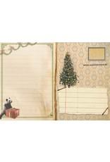 Christmas card - panda christmas