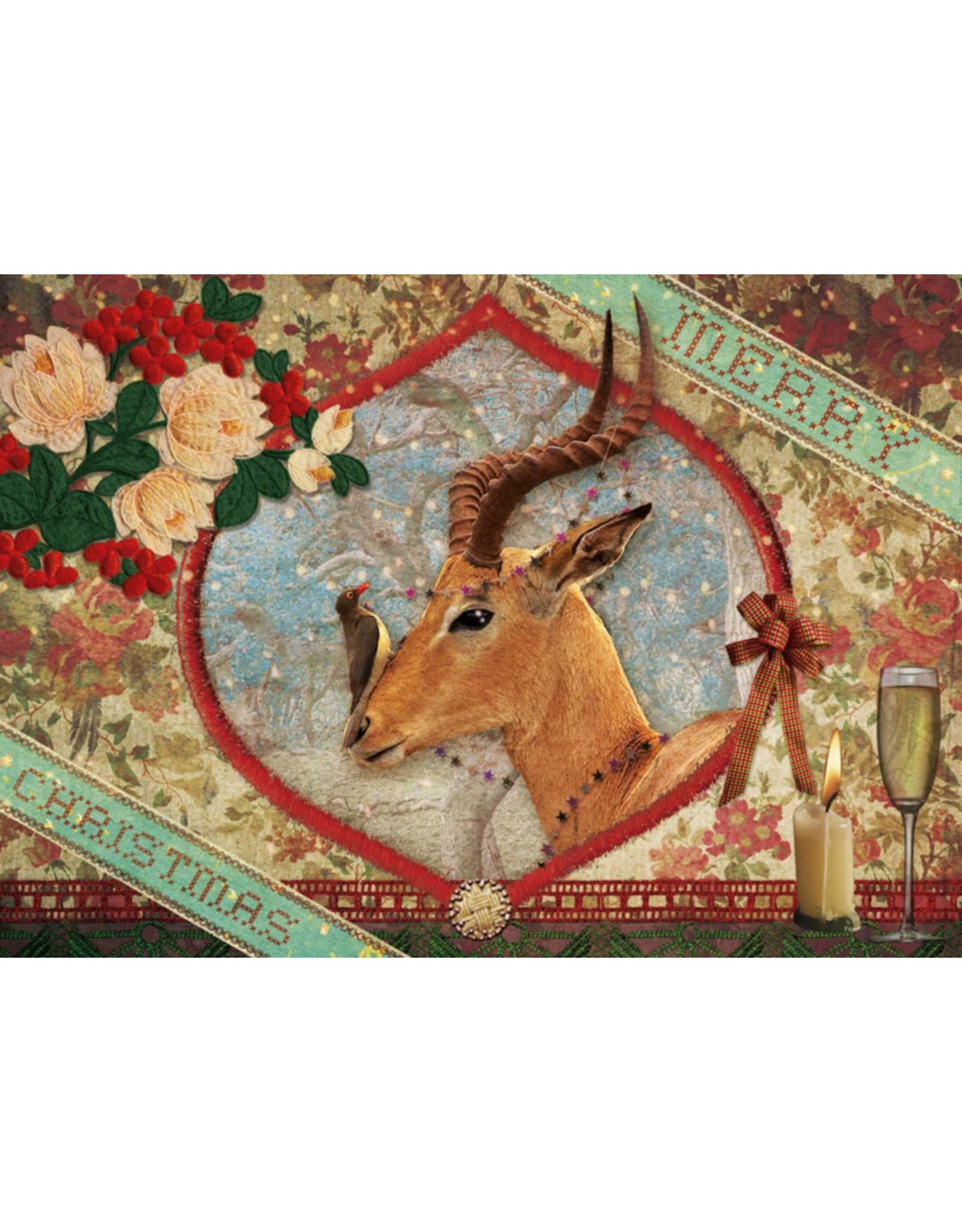 Christmas card - christmas antelope