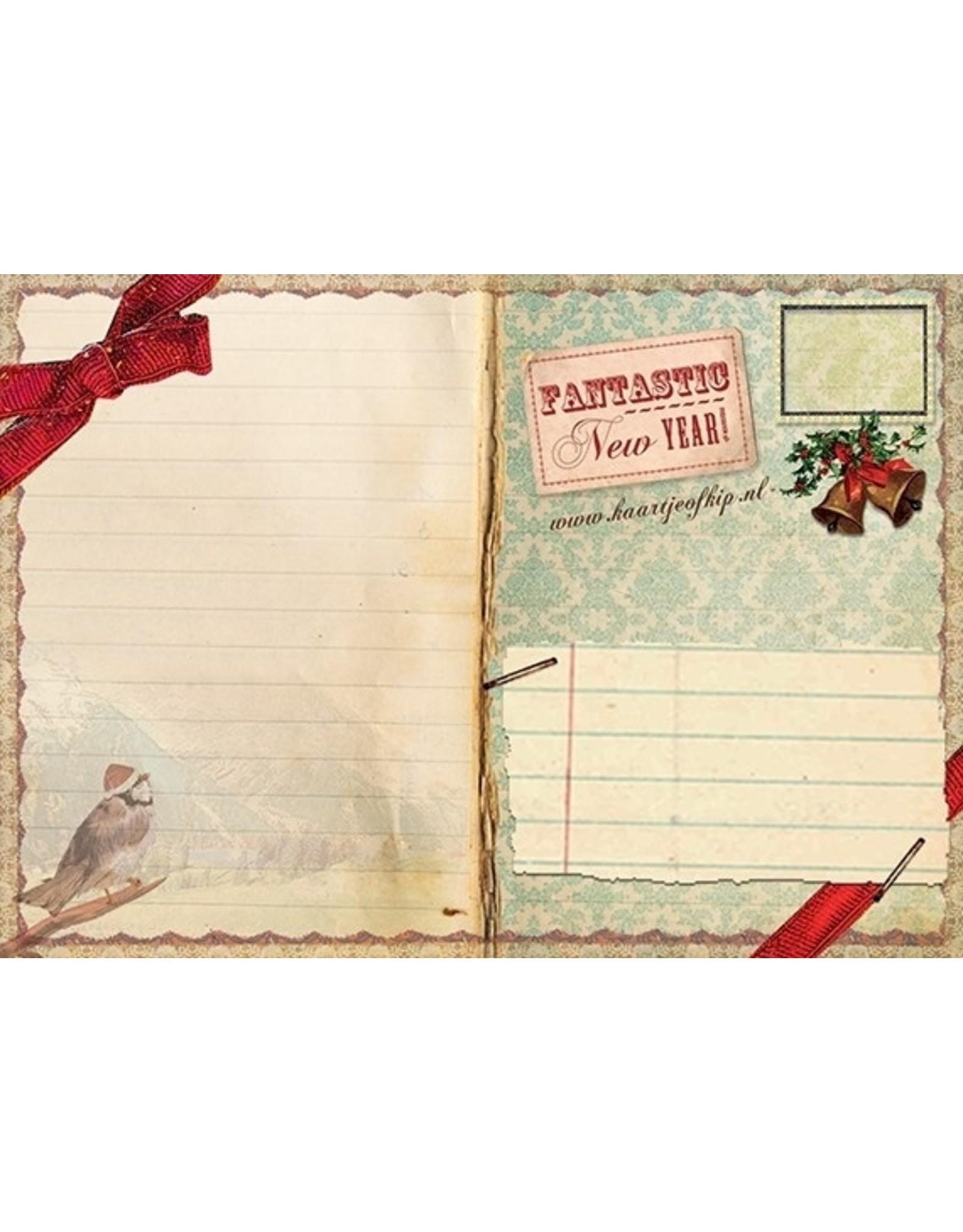 Christmas card - new year birds
