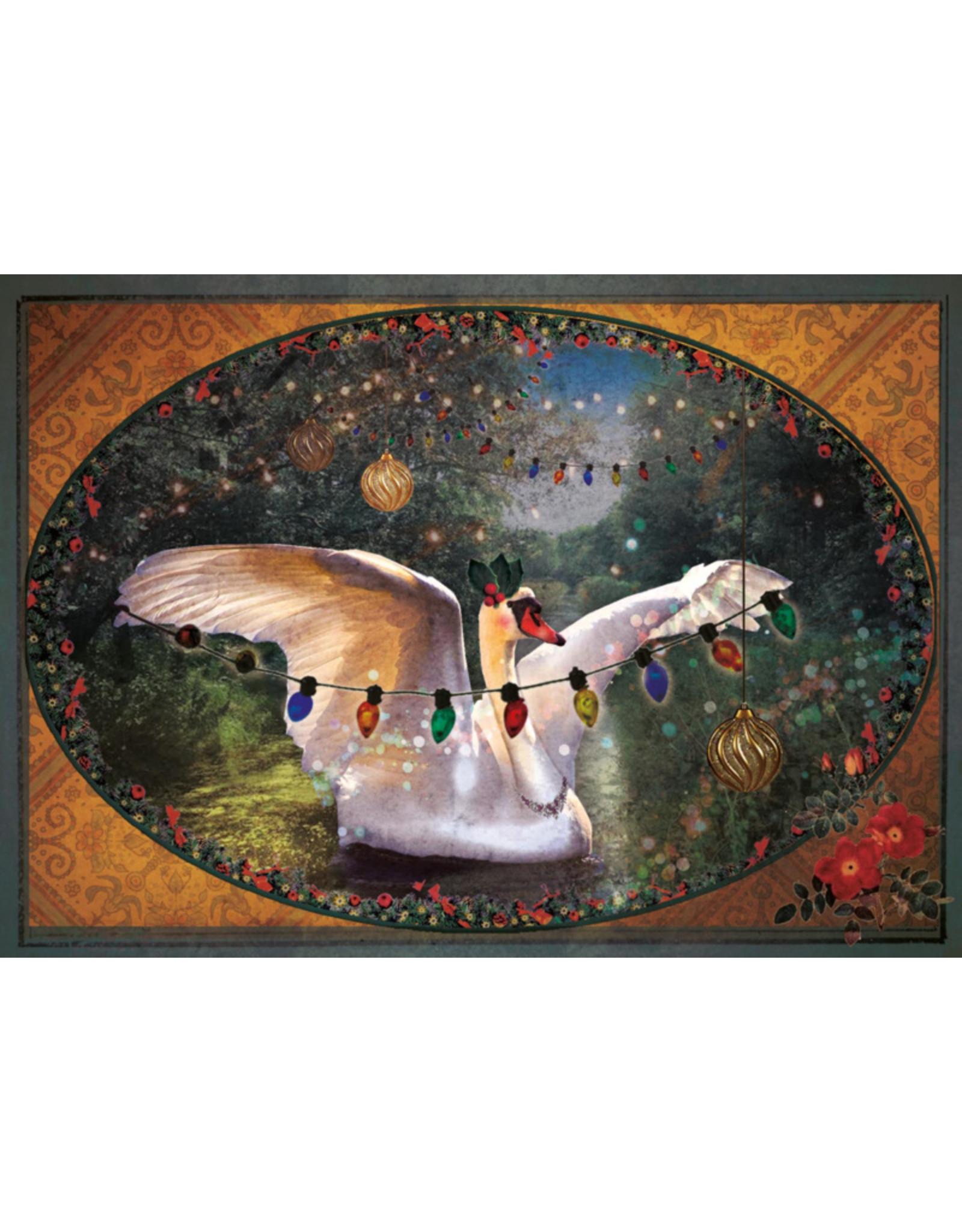 Christmas card - christmas swan