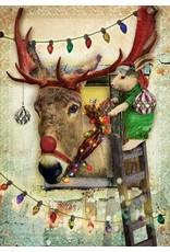 Kerstkaart - ezel