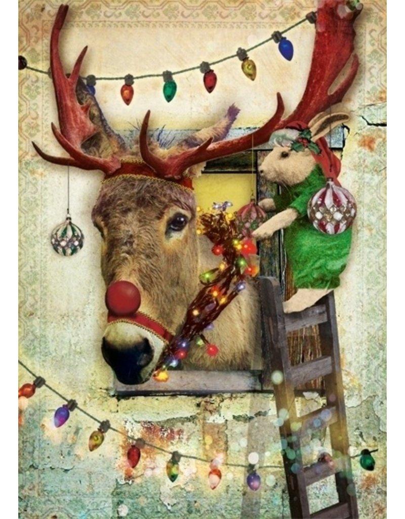 Christmas card - donkey