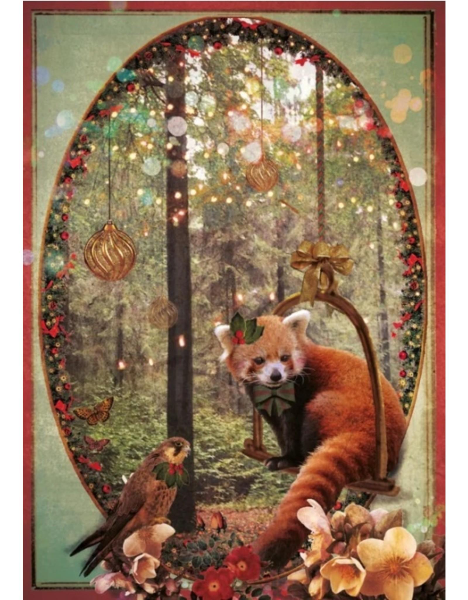 Christmas card - christmas forest