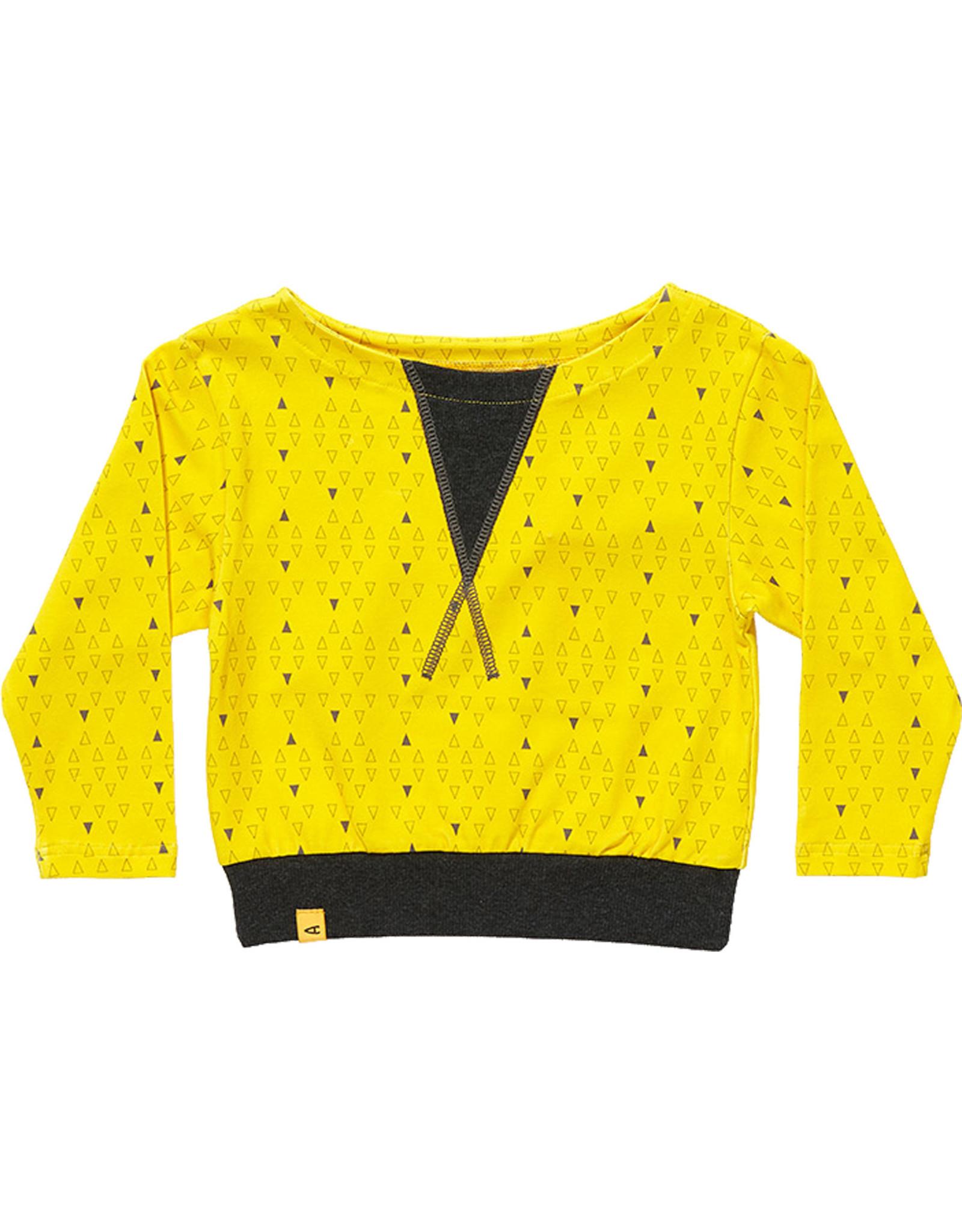 Albababy Children's sweater - Fenja yellow triangle