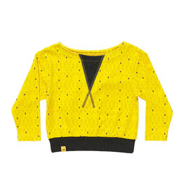Albababy Children's sweater - Fenja yellow triangle
