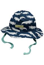 loud+proud Children's summerhat - blue crocodiles