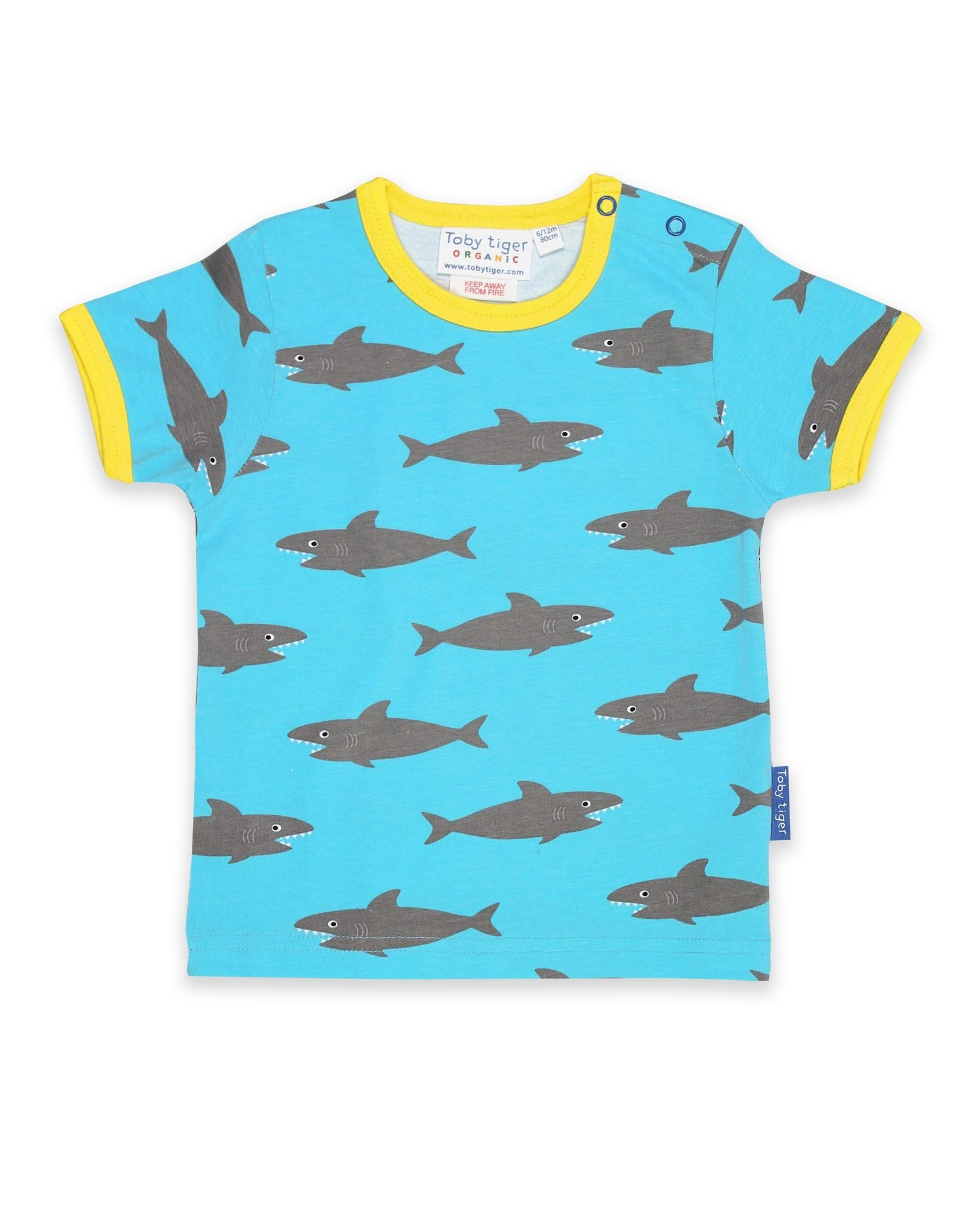 Toby Tiger Kinder t-shirt - haaien !
