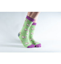 Doris & Dude Socks - cows (36-40)