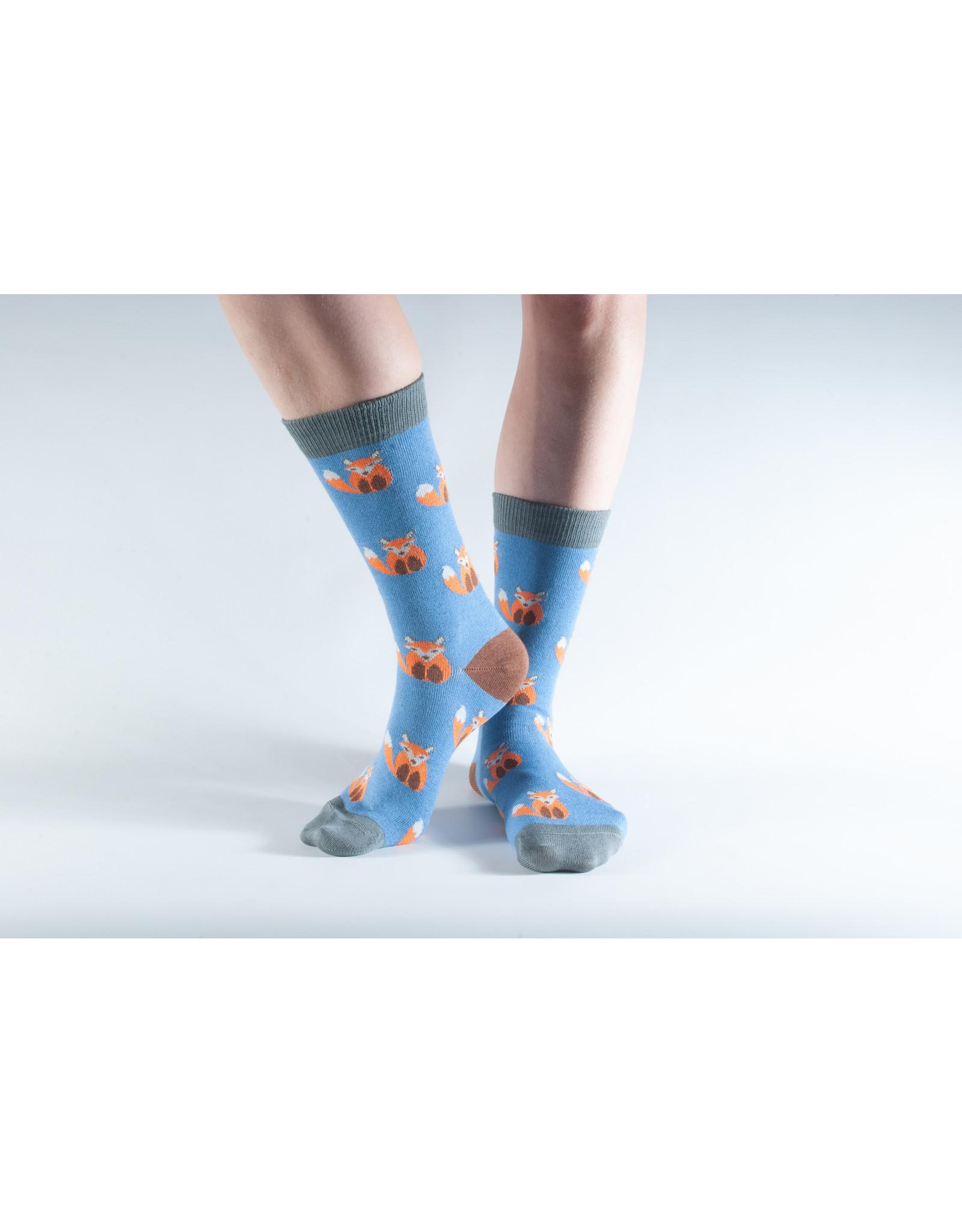 Doris & Dude Socks - foxes (36-40)