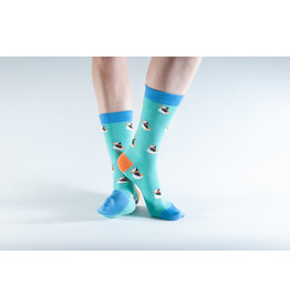 Doris & Dude Socks - blue puffins (36-40)