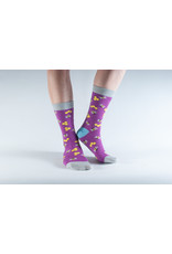 Doris & Dude Socks - purple bees (36-40)