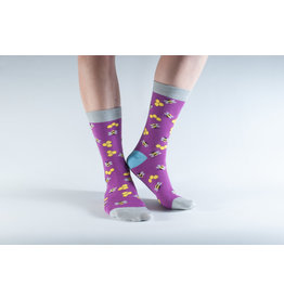 Doris & Dude Socks - purple bees (36-40)