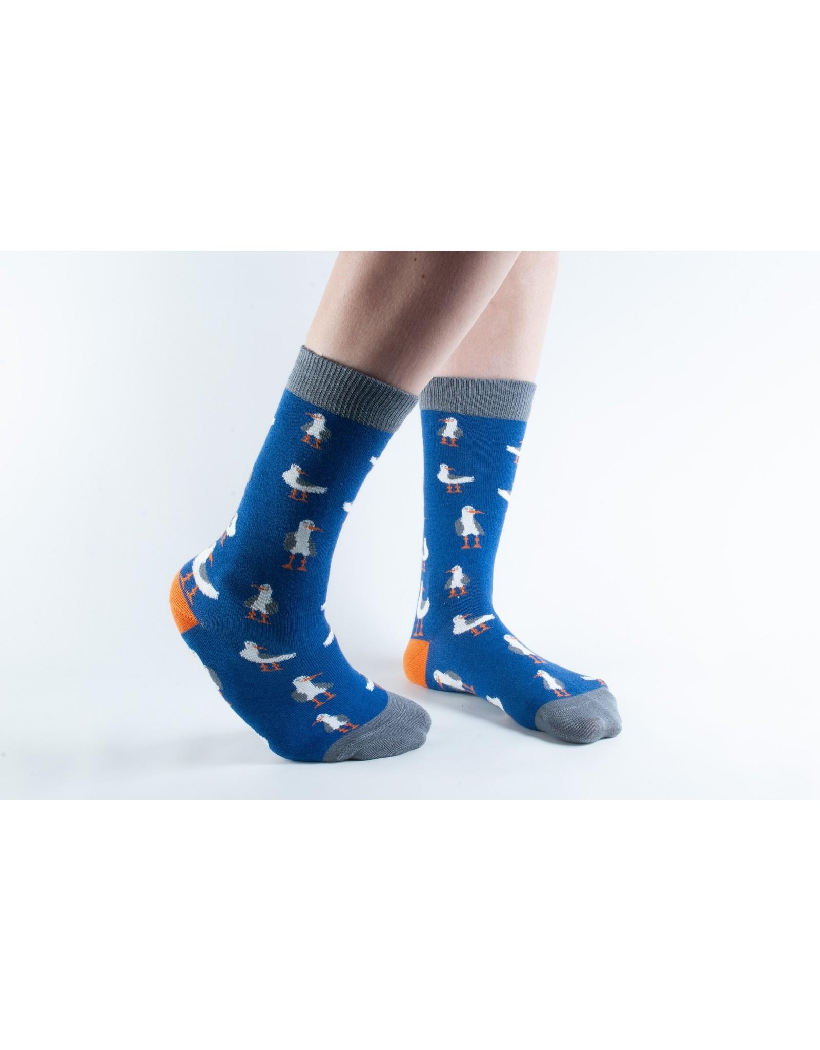 Doris & Dude Sokken - donkerblauwe zeemeeuwen (36-40)