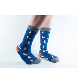 Doris & Dude Socks - darkblue seagulls (36-40)