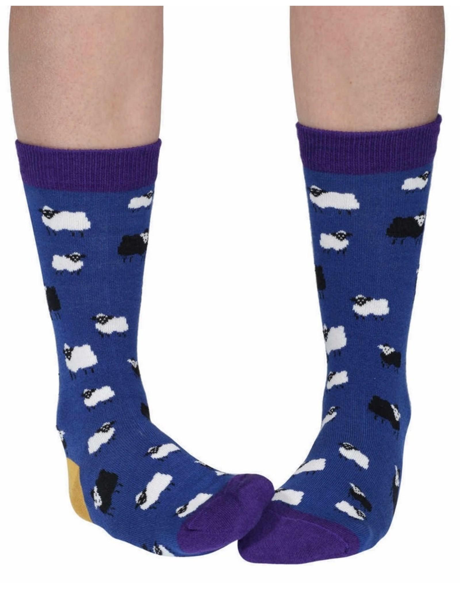 Doris & Dude Socks - darkblue sheep (36-40)