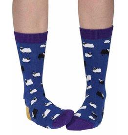 Doris & Dude Sokken - donkerblauwe schapen (36-40)