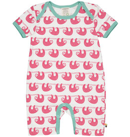 loud+proud Baby summersuit - pink sloths