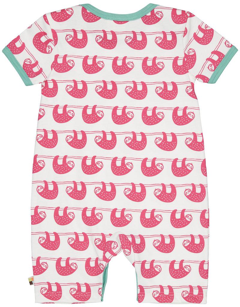 loud+proud Baby summersuit - pink sloths