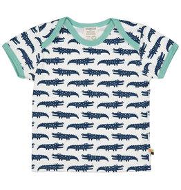 loud+proud Kids t-shirt - dark blue crocodiles