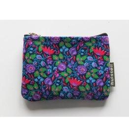Huisteil Small vintage purse - blue flowers